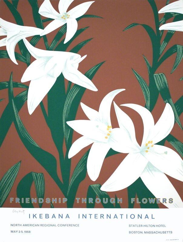Alex Katz, 'Friendship Through Flowers, Ikebana International', 1968, Ephemera or Merchandise, Silkscreen, ArtWise