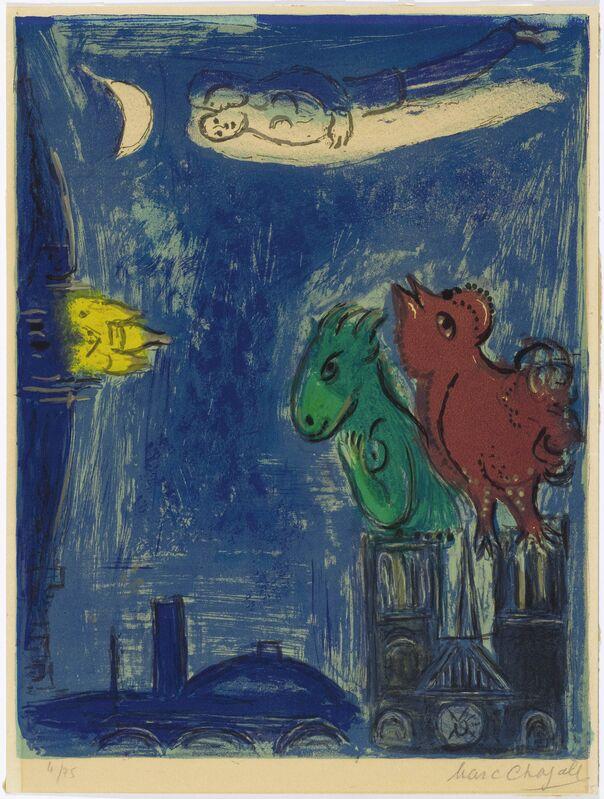 Marc Chagall, 'Les Monstres de Notre-Dame', 1954, Print, Colour lithograph. 6/75, Koller Auctions