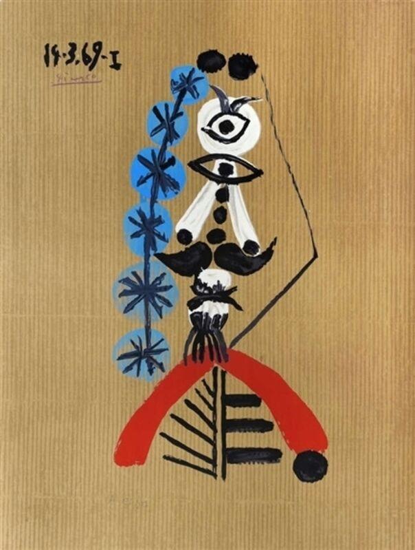 Pablo Picasso, 'Portraits Imaginaires - 14.3.69.I', 1970-1971, Print, Lithograph colour, Galerie Montmartre