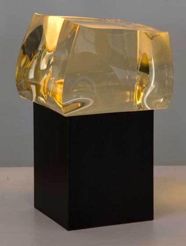 Christophe Côme, 'Petite Yellow Loukoum', 2012, Design/Decorative Art, Polished crystal and metal base, Cristina Grajales Gallery