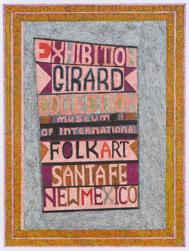 Anthony Campuzano, 'Sideways Stare After Alexander Girard', 2013, Drawing, Collage or other Work on Paper, Ink, graphite and colored pencil on board, Fleisher/Ollman