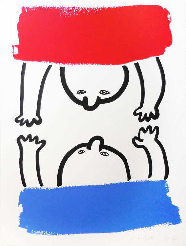Keith Haring, 'Story of Red and Blue XV ', 1989, Print, Screen Print, Pop Fine Art