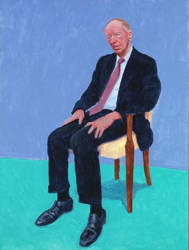David Hockney, 'Lord Jacob Rothschild', 5th-6th February 2014, Painting, Acrylic on canvas, Royal Academy of Arts