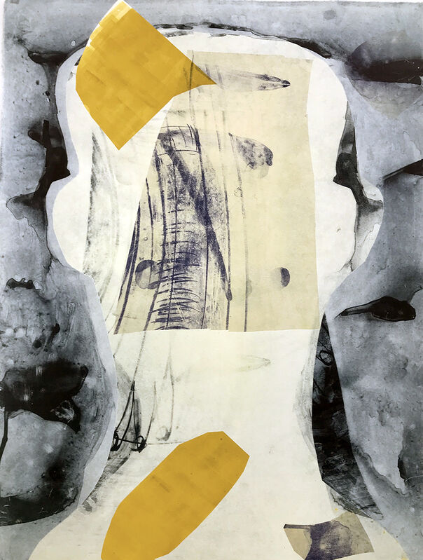 Mary Crenshaw, 'Bounce 8', 2020, Mixed Media, Mono print chine collé, ink on paper, The Painting Center