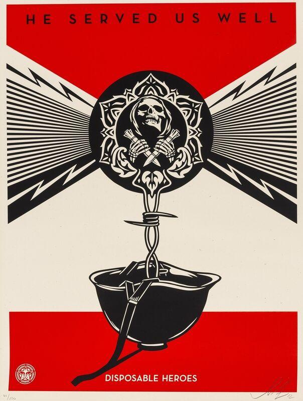 Shepard Fairey, 'Disposable Heros', 2012, Print, Screenprint in colours, Forum Auctions