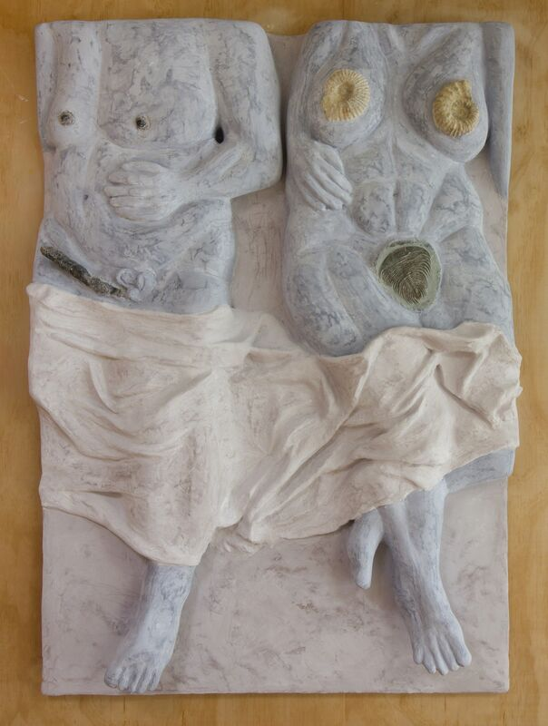 Cara Chan, 'Sleeping Positions', 2018, Sculpture, Trilobites, ammonite, unidentified fossil (Morocco), Venetian plaster, pigment, fiberglass resin, hydrocal, celluclay, carved foam, wood, Ochi Projects