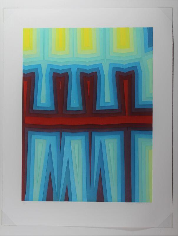 Tauba Auerbach, 'Fold/Slice I', 2011, Print, Aquatint Etching on Paper, Hal Katzen Gallery