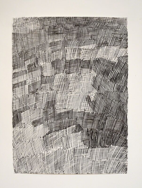 Nyapanyapa Yunupingu, 'Djorra (paper) 8', 2014, Drawing, Collage or other Work on Paper, Felt tip pen, earth pigments on discarded print proofs, Roslyn Oxley9 Gallery