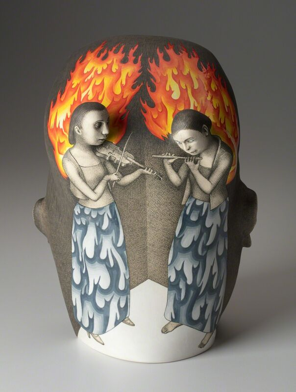 Sergei Isupov, 'Sound in the Head', 2018, Sculpture, Ceramics, Ferrin Contemporary