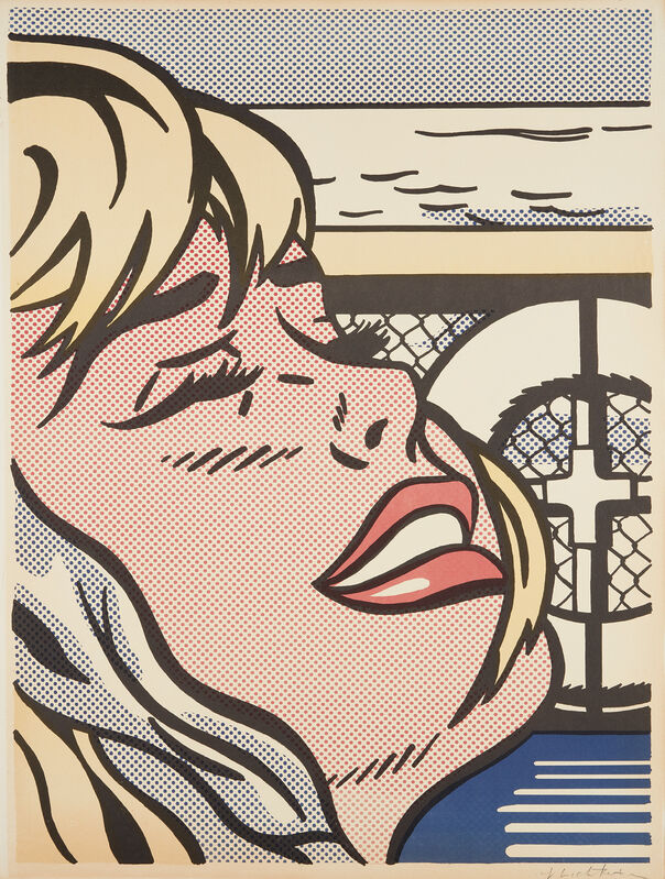 Roy Lichtenstein, 'Shipboard Girl', 1965, Print, Offset lithograph in colors, on wove paper, laid to cardboard, with full margins., Phillips