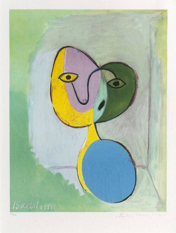 Pablo Picasso, 'Figure (Portrait of Marie Therese Walter)', 1973-Originally created 1936, Print, Lithograph on Arches Paper, RoGallery