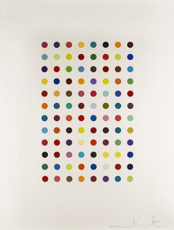 Damien Hirst, 'Xylene Cyanol Dye Solution', 2005, Print, Color aquatint, Vertu Fine Art