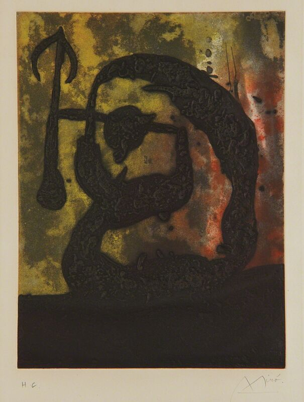 Joan Miró, 'Tête flèche (Arrow Head)', 1968, Print, Aquatint in colors with carborundum, on Arches paper, with full margins, Phillips