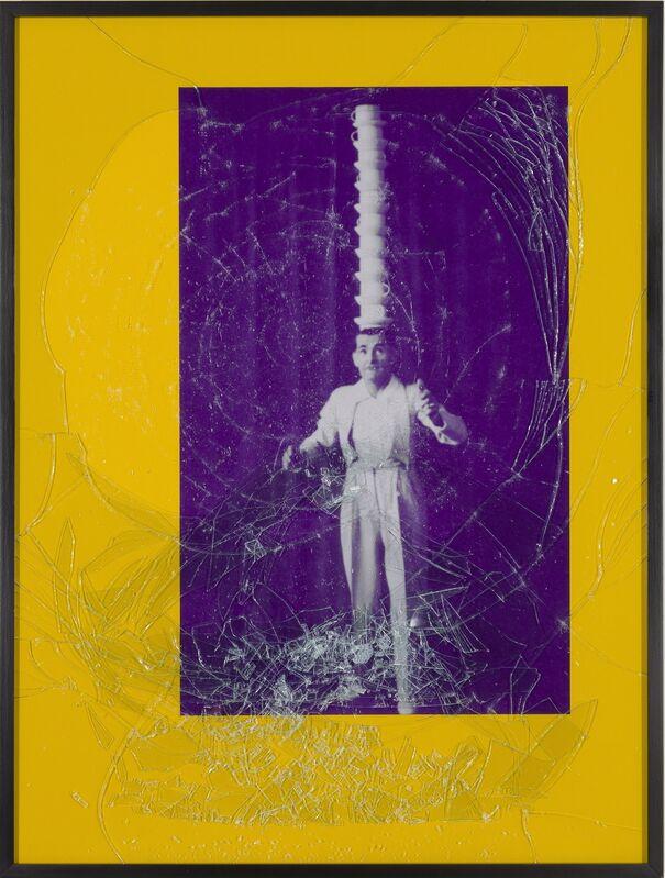 Barbara Bloom, 'Balance #1 (Purple Head Stack)', 2001, Mixed Media, Iris print in colored matte with broken glass embedded in Plexiglas, Tracy Williams, Ltd.