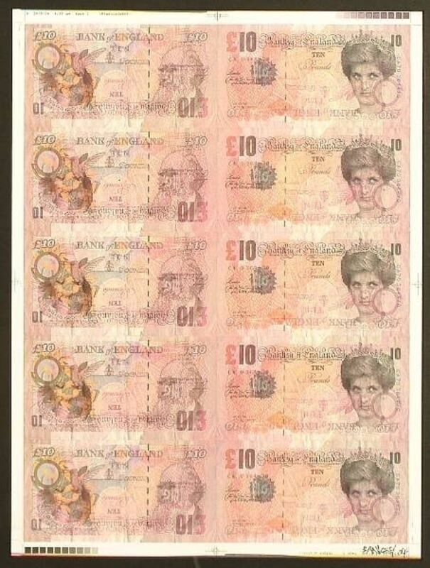 Banksy, 'Di-Face Tenners Artist Proof', 2004, Print, Litho Print, Gallery Nosco