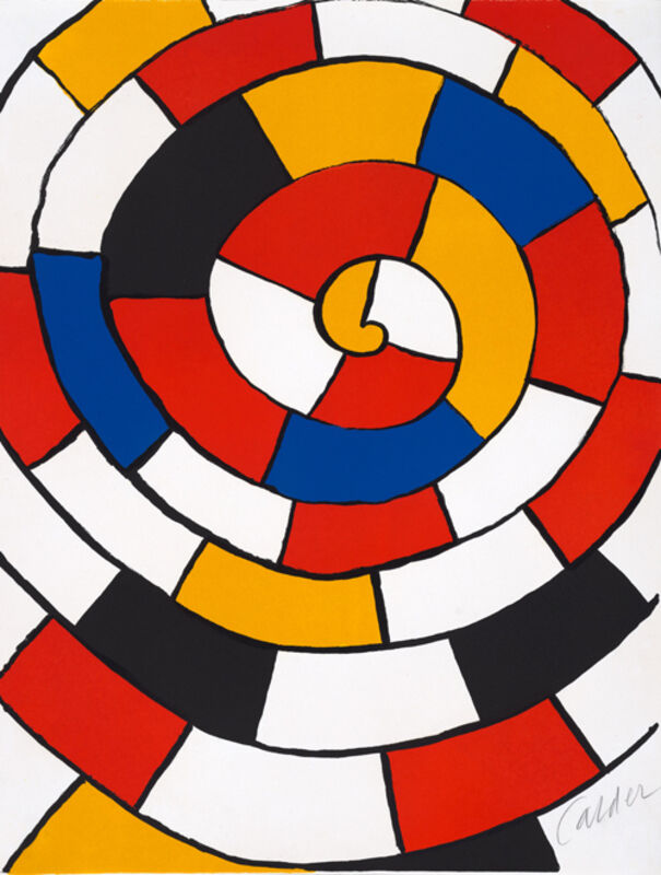 Alexander Calder, 'Spiral from the portfolio Magie Éolienne', 1972, Print, Lithograph, Susan Sheehan Gallery