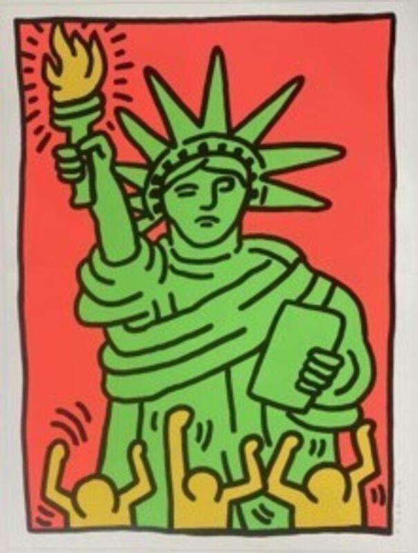 Keith Haring, 'Statue of Liberty', 1986, Print, Screenprint in colors, MoonStar Fine Arts Advisors
