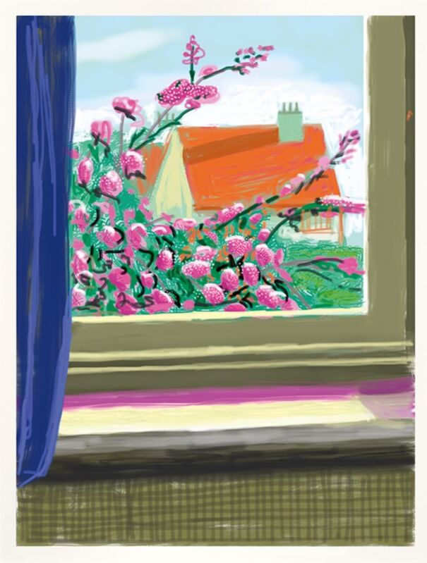 David Hockney, 'iPad drawing My Window -  'No. 778', 17th April 2011 | Do remember they can't cancel the spring', 2019, Print, Cotton-fiber archival paper, 8-color inkjet print, Frank Fluegel Gallery
