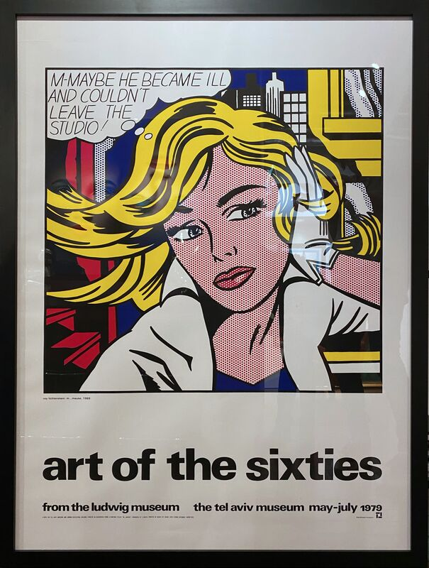 Roy Lichtenstein, 'M-Maybe ', 1979 , Posters, Screenprint on paper, Off The Wall Gallery