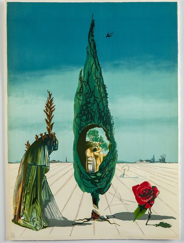 Salvador Dalí, 'Enigma of The Rose (Death)', 1976, Print, Print, Modern Artifact