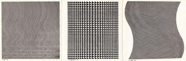 Bridget Riley, 'Fall, Straight Curve, Twist', 1963