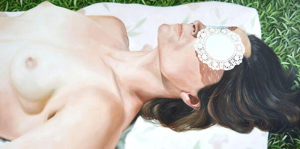 Kelli Vance, 'Her Glowing White Flesh With Green Blue Eyes', 2019