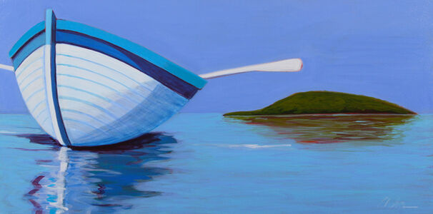 Melissa Chandon, 'Summer Boat with Island View', 2017