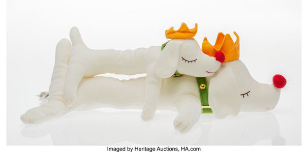 After Yoshitomo Nara, 'Pup King: Sleeping Dog Dolls (small and medium)'