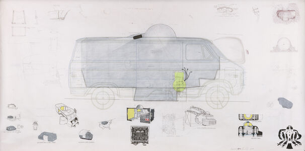 Ant Farm, 'Ant Farm Media Van v.08 [Time Capsule], Side Elevation', 2008