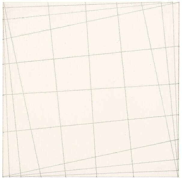 Karl Heinz Adler, 'Die Verbindung der Seitenpunkte mittels der Diagonalen', 1990