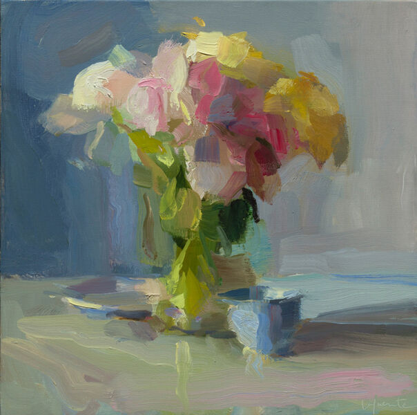 Christine Lafuente, 'Peonies, Plate, and Teacup', 2018