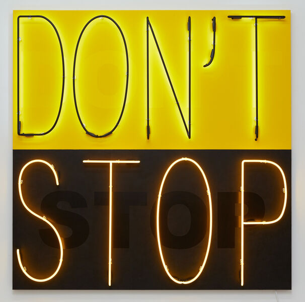 Deborah Kass, 'Don't Stop 1  (Yellow/Black)', 2020