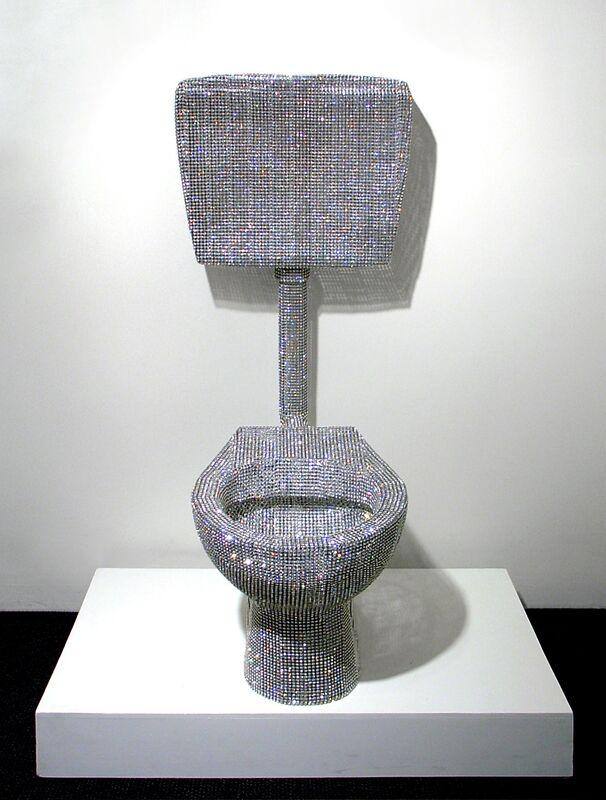 Nicola Bolla, 'Vanitas, Toilet', 2006-2007, Mixed Media, White Swarovski Diamonds, Nohra Haime Gallery