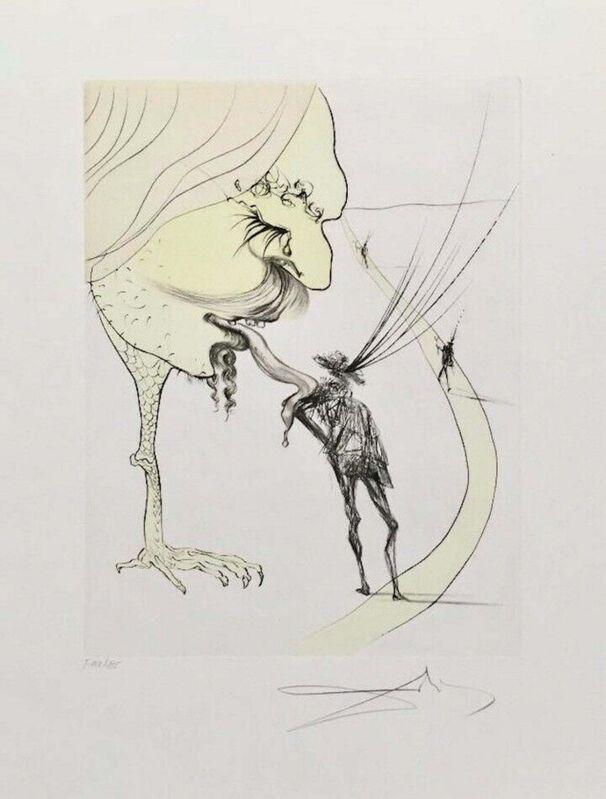 Salvador Dalí, 'Picasso: Un Billet Pur la Glorie', 1974, Print, Engraving on Arches paper, Art Commerce