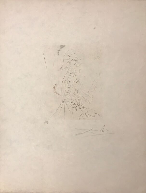 Salvador Dalí, 'Troilus & Cressida ', 1968, Drawing, Collage or other Work on Paper, Original engraving, Dali Paris