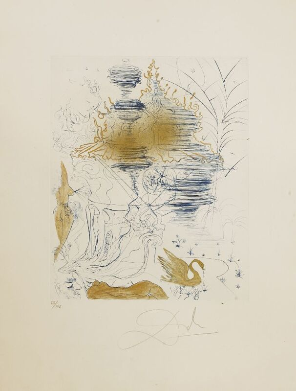 Salvador Dalí, 'LA PAGODE', 1969, Print, Etching with drypoint and gilding printed in colours, Sworders