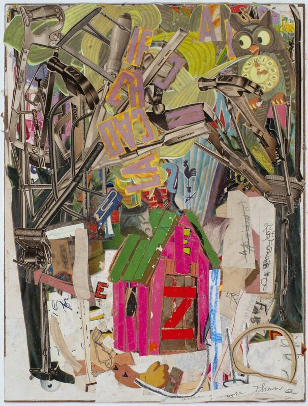 Lance Letscher, 'Pink Hut', 2016, Drawing, Collage or other Work on Paper, Collage, TAI Modern