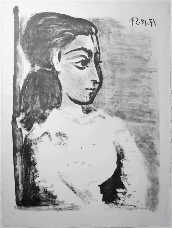 Pablo Picasso, 'Buste de Femme au Corsage blanc (Jacqueline de profil)', 17.12.1957, Print, Lithograph, Galerie Ostendorff
