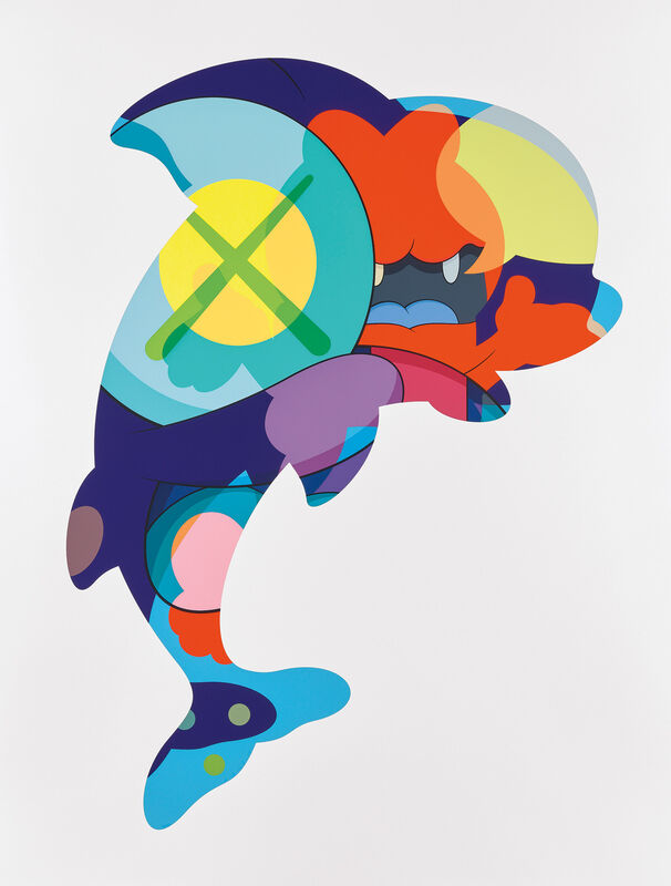 KAWS, 'PIRANHAS WHEN YOUR SLEEPING', 2016, Print, Screenprint in colors, on wove paper, with full margins., Phillips