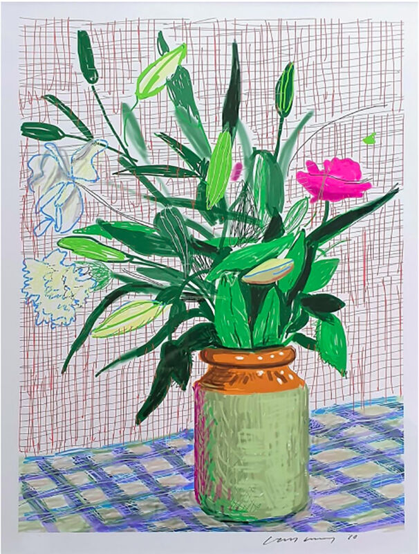 David Hockney, 'iPad drawing 'Untitled, 516', 2010 with David Hockney. A Bigger Book. Art Edition No. 751–1,000', 2016, Print, 8-color inkjet print on cotton-fiber archival paper; hardcover book and stand, David Benrimon Fine Art