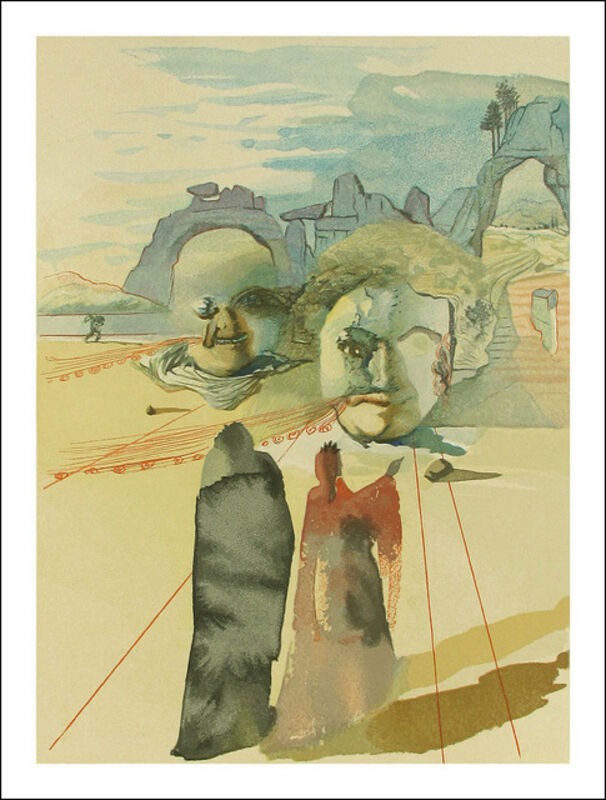 Salvador Dalí, 'Greed and Lavishness (Purgatory #20, The Divine Comedy)', 1960, Print, Original Woodblock Engraving on BFK Rives paper, Artsy x Capsule Auctions