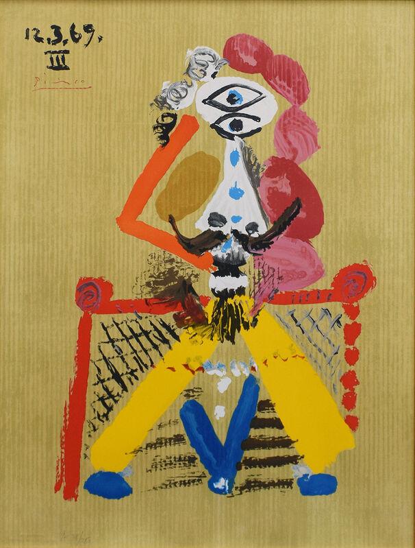 Pablo Picasso, 'Imaginary Portrait 69.3.12 III', 1969, Print, Lithograph, Gallery Suiha