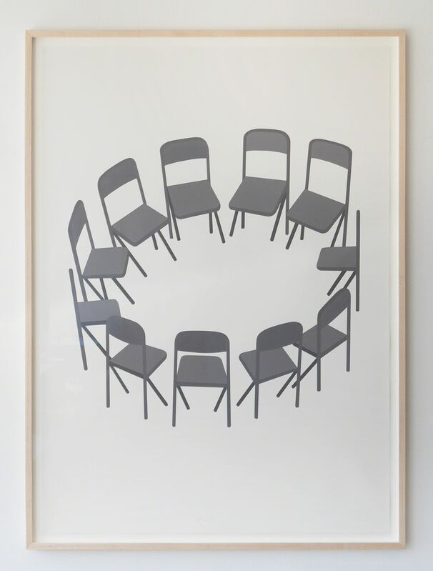 Geoff McFetridge, 'The Quietness of Not Listening', 2016, Painting, Acrylic on paper (coventry vellum), V1 Gallery