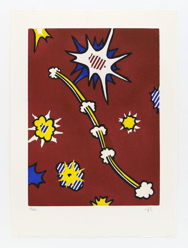 Roy Lichtenstein, 'La Nouvelle Chute de L'Amerique', 1992, Print, Portfolio of 10 etchings, Mary Ryan Gallery, Inc