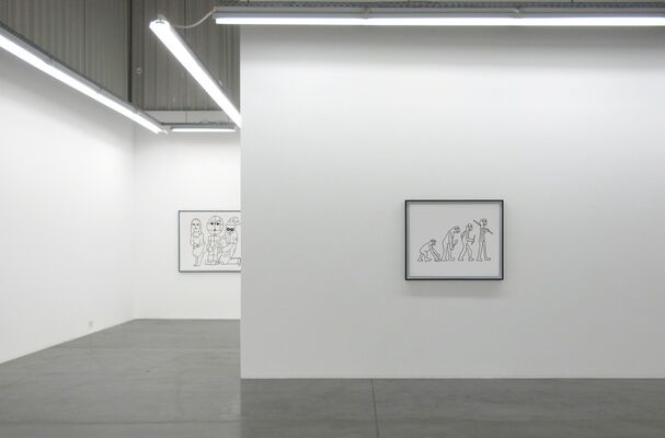 The Good Old Evolution, installation view