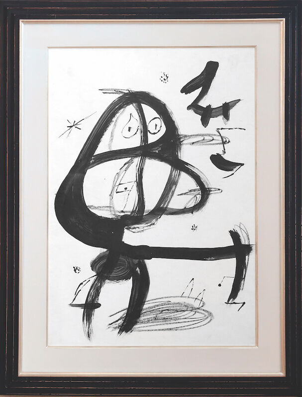 Joan Miró, 'Cap i cua', 1979, Drawing, Collage or other Work on Paper, Indian ink and pencil on paper, Galerie Hurtebize