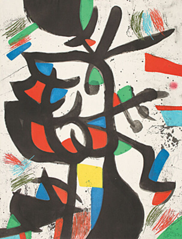 Joan Miró, 'La marchande de couleurs (Die Farbenhändlerin)', 1981, Print, Colured aquatint etching, Galerie Boisseree