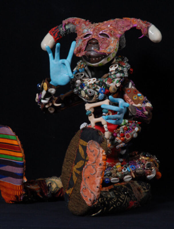 Chris Malone, 'A Contrast of This and That', 2013, Sculpture, Mixed Media, Polymer Clay, Wire, Fabric, Glue, Acrylic Paint - Sculptural 'Doll' with Movable/Posable Appendages, Zenith Gallery