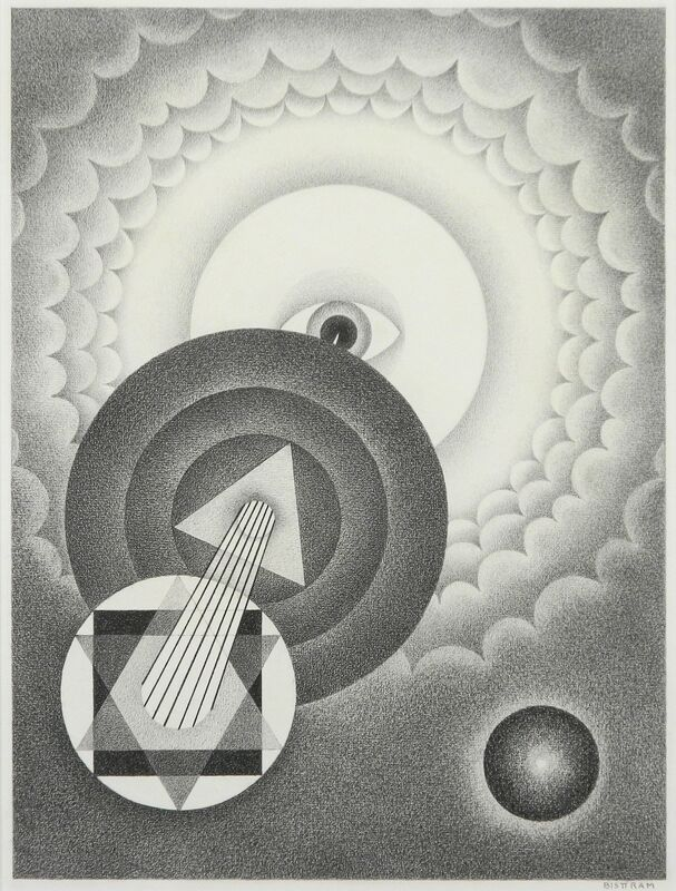 Emil Bisttram, 'Untitled Abstraction', ca. 1940, Drawing, Collage or other Work on Paper, Graphite on paper, Addison Rowe Gallery