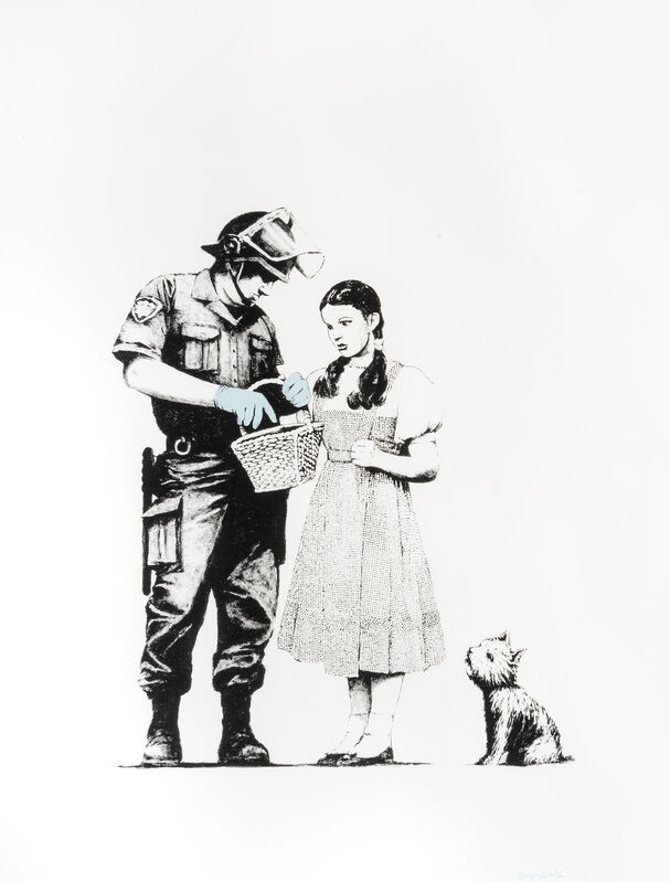 Banksy, 'Stop & Search', 2007, Print, Screen print in colours on Arches 88 Paper, Tate Ward Auctions